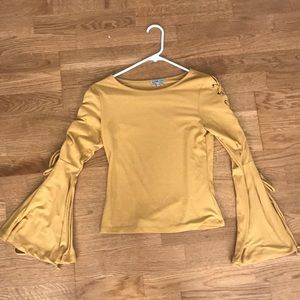 Charlotte Russe - Yellow bell sleeve top